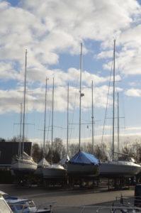 Winterstalling op de wal Friesland